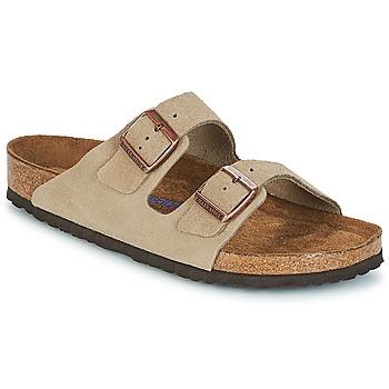 鞋子 休闲凉拖/沙滩鞋 Birkenstock 勃肯 ARIZONA SFB 灰褐色