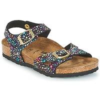 鞋子 女孩 涼鞋 Birkenstock 勃肯 RIO 黑色