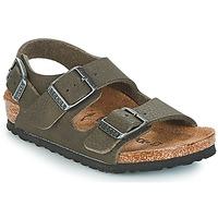 鞋子 男孩 凉鞋 Birkenstock 勃肯 MILANO 绿色