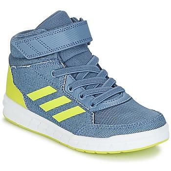 鞋子 男孩 高帮鞋 adidas Performance 阿迪达斯运动训练 ALTASPORT MID EL K 蓝色