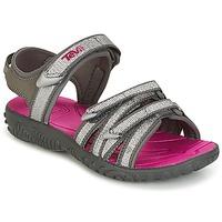 鞋子 女孩 运动凉鞋 Teva TIRRA 银灰色 / 洋红