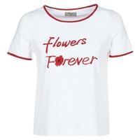 衣服 女士 短袖体恤 Betty London INNATIMBI 白色 / 红色