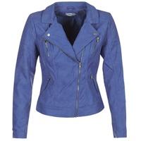 衣服 女士 皮夹克/ 人造皮革夹克 Only STEADY 蓝色