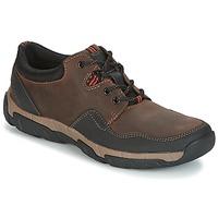 鞋子 男士 球鞋基本款 Clarks 其乐 WALBECK EDGE 棕色 /  leather