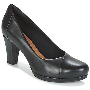 鞋子 女士 高跟鞋 Clarks 其乐 CHORUS CAROL 黑色 /  leather