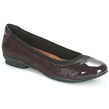 鞋子 女士 平底鞋 Clarks 其乐 NEENAH GARDEN 茄子紫