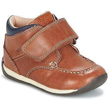 鞋子 男孩 球鞋基本款 Geox 健乐士 B EACH BOY 棕色