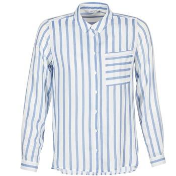 衣服 女士 衬衣/长袖衬衫 Only CANDY 白色 / 蓝色