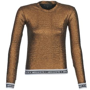 衣服 女士 长袖T恤 American Retro ALLAN 棕色