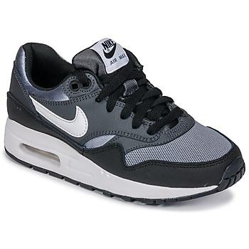 鞋子 男孩 球鞋基本款 Nike 耐克 AIR MAX 1 GRADE SCHOOL 黑色 / 灰色