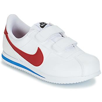 鞋子 男孩 球鞋基本款 Nike 耐克 CORTEZ BASIC PRE-SCHOOL 白色 / 蓝色 / 红色