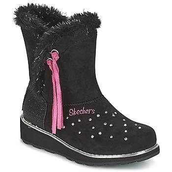 鞋子 女孩 雪地靴 Skechers 斯凯奇 SPARKLES 黑色 / 玫瑰色