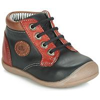 鞋子 男孩 高帮鞋 Catimini RAYMOND 黑色-红色