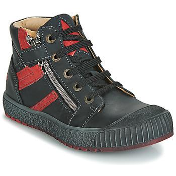 鞋子 男孩 高帮鞋 GBB RAMBOUTAN Vte / 黑色-砖红色