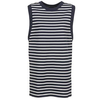 衣服 女士 短裙 Petit Bateau 小帆船 MARBRE 海蓝色 / 浅米色
