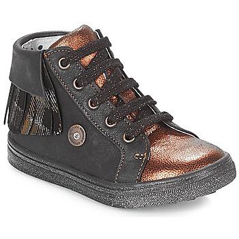 鞋子 女孩 高帮鞋 Catimini LOULOU 黑色 / 铜色