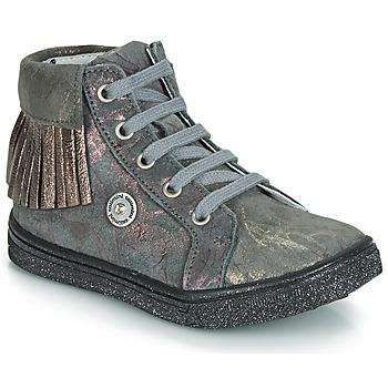鞋子 女孩 高帮鞋 Catimini LOULOU 灰色 / 玫瑰色