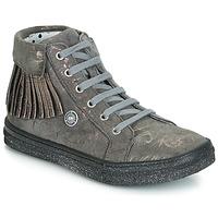鞋子 女孩 高幫鞋 Catimini LOULOU 灰色 / 玫瑰色
