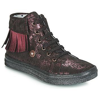 鞋子 女孩 高帮鞋 Catimini LOULOU 黑色 / 玫瑰色