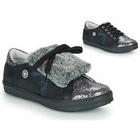 鞋子 女孩 球鞋基本款 Catimini MARGOTTE 黑色 / 银灰色