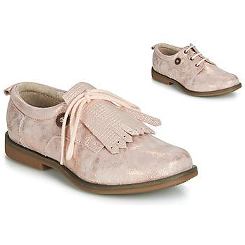 鞋子 女孩 德比 Catimini ROMY Vte / 玫瑰色 / Poudré