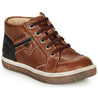 鞋子 男孩 高帮鞋 Catimini PASCOU Nub / 棕色