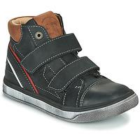 鞋子 男孩 高幫鞋 Catimini ROBBY Vte / 黑色