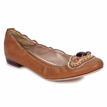 鞋子 女士 平底鞋 Sebastian Milano AMARILLI 驼色