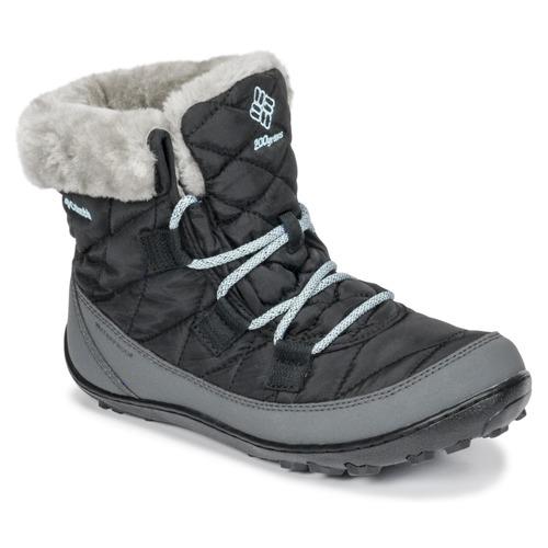 鞋子 儿童 雪地靴 Columbia 哥伦比亚 YOUTH MINX SHORTY OMNI-HEAT™ WATERPROOF 黑色