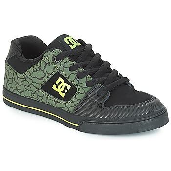 鞋子 儿童 球鞋基本款 DC Shoes PURE SE B SHOE BK9 黑色 / 绿色