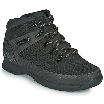 鞋子 男士 短筒靴 Timberland 添柏岚 Euro Sprint Fabric WP 黑色