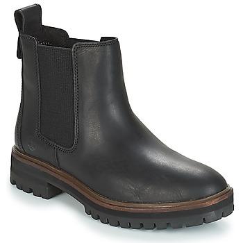 鞋子 女士 短筒靴 Timberland 添柏岚 London Square Chelsea 黑色