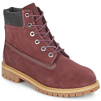 鞋子 儿童 短筒靴 Timberland 添柏岚 7 In Premium WP Boot 波尔多红