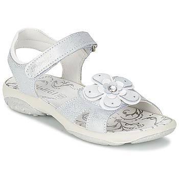 鞋子 女孩 凉鞋 Primigi LINA 白色 / 银色