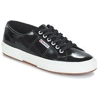 鞋子 女士 球鞋基本款 Superga 2750-LEAPATENTW 黑色
