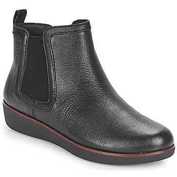 鞋子 女士 短筒靴 FitFlop CHAI 黑色