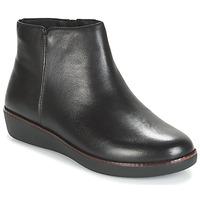 鞋子 女士 短筒靴 FitFlop ZIGGY ZIP 黑色