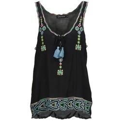 衣服 女士 无领短袖套衫/无袖T恤 Antik Batik SANAH 黑色