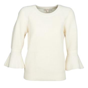 衣服 女士 羊毛衫 Michael by Michael Kors SHAKER ROUND SLV 白色