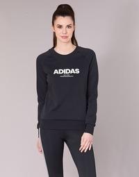 衣服 女士 卫衣 adidas Performance 阿迪达斯运动训练 ESS ALLCAP SWT 黑色
