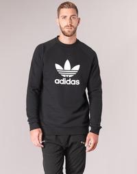 衣服 男士 衛衣 Adidas Originals 阿迪達斯三葉草 TREFOIL CREW 黑色