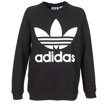 衣服 女士 卫衣 Adidas Originals 阿迪达斯三叶草 OVERSIZED SWEAT 黑色