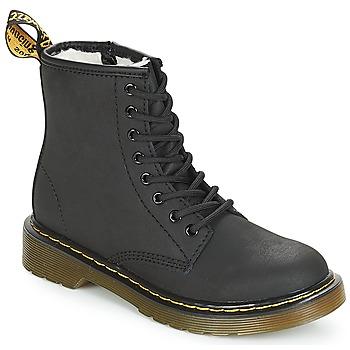鞋子 女孩 短筒靴 Dr Martens SERENA JUNIOR 黑色