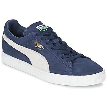 鞋子 球鞋基本款 Puma 彪马 SUEDE CLASSIC 蓝色 / 白色