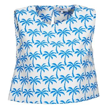 衣服 女士 无领短袖套衫/无袖T恤 Suncoo LANA 白色 / 蓝色