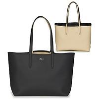 包 女士 购物袋 Lacoste ANNA 黑色 / 米色