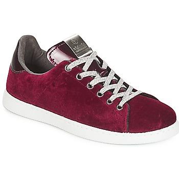鞋子 女士 球鞋基本款 Victoria 维多利亚 DEPORTIVO TERCIOPELO 波尔多红