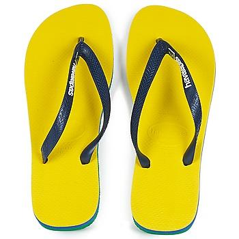 鞋子 人字拖 Havaianas 哈瓦那 BRASIL LAYERS 黄色