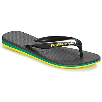鞋子 男士 人字拖 Havaianas 哈瓦那 Brasil Layers 黑色