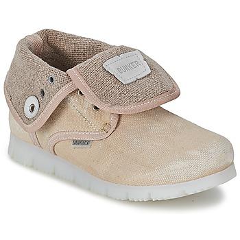 鞋子 女孩 短筒靴 Bunker LAST WALK 米色
